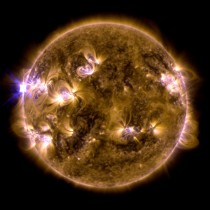 Largest solar flare of the year so far a class X emitted from the sun yesterday at  pm EDT - May