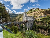 Las Lajas Sanctuary a basilica church located in the southern Department of Nario municipality of Ipiales Colombia