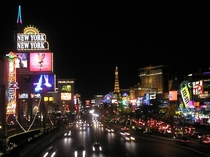 Las Vegas Blvd at night