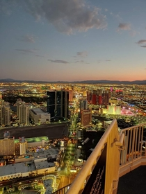 Las Vegas strip from the top of the Stratosphere Photo credit to uCat_Lady
