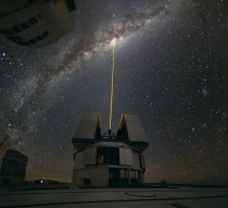 Laser towards Milky Ways Center