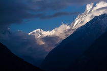 Last Light Annapurna Nepal