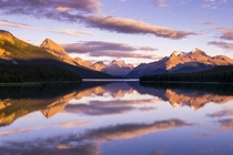 Last light at Maligne Lake Alberta