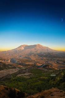 Last Light at Mt St Helens x