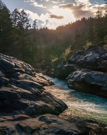 Last light in the canyon Applegate River Oregon