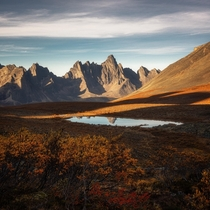 Last light of the day in the remote Yukon wilderness