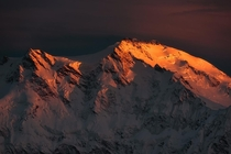 Last light on Nanga Parbat Pakistan