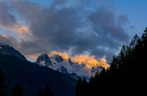 Last Light on the French Alps  Chamonix France