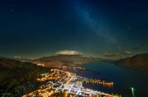 Last night stars -  seconds over Queenstown New Zealand