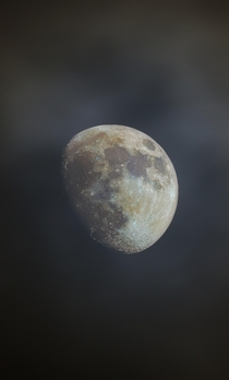 Last Nights moon through the clouds- taken from my backyard in Sacramento