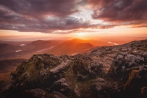 Last nights sunset at the top of Mount Snowdon x