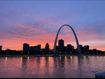 last nights sunset in St Louis MO from a barge