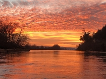 Last nights sunset North Fork of the Skagit river The Pacific Northwest has it moments