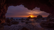 Last Rays From The Cave Malibu CA By William McIntosh