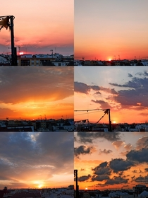 Last six sunsets at home ValenciaSpain