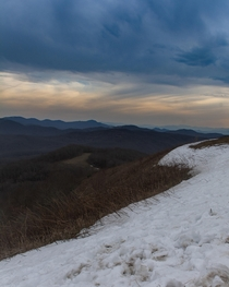 Last snow at Max Patch on the North Carolina and Tennessee border