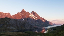 Last week I finally lived my dream by visiting the Lofoten Islands of Norway during the midnight sun This was taken at am