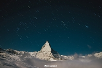 Last winter I had the chance to spend a night in the mountains around the Matterhorn I didnt get much sleep