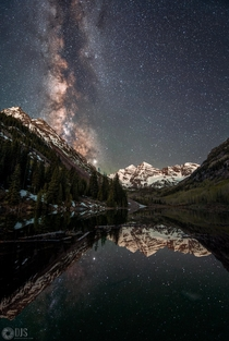 Last year I made a composite photo of the Milky Way over Maroon Bells CO since I was clouded out all night This year however I made it back and had clear skies to finally capture the real thing