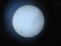 Last years Transit of Venus June   Brown Observatory TX Taken with an iPhone S and a small reflector telescope with a Mylar filter