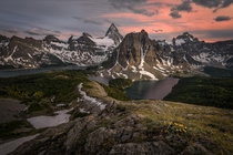 Late afternoon views in Mount Assiniboine Provincial Park Canada