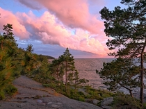 Late evening in Porkkala wilderness Finland  at  The Baltic Sea looking South