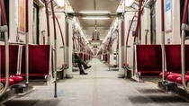 Late Night on the TTC Toronto ON