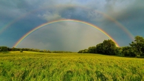 Late summer storm brings double rainbow to Central New York