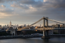 Later afternoon at the Manhattan Bridge