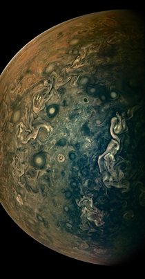 Latest NASA Juno spacecraft view of Jupiter