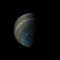 Latest view of Jupiter from the Juno spacecraft
