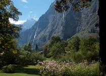 Lauterbrunnen Valley Switzerland taken while traveling Europe A valley of  waterfalls and Tolkiens inpisration for Rivendell