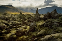 Lava field in Snfellsnes Iceland  photo by Jn Pll