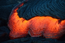 Lava from a flank eruption on Kilauea