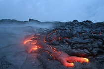 Lava from a volcano Klauea Hawai  by James Binder