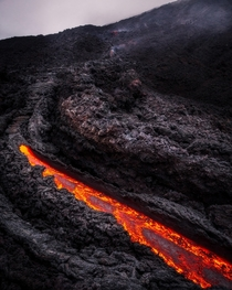 Lava River on the Pacaya Volcano Guatemala