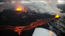 Lavaflow at the Holuhraun eruption by Eggert Nordahl