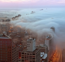 layer of fog over Chicagox-post rfoggypics