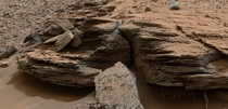 Layered Rocks near Mount Sharp on Mars