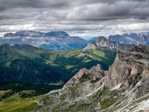 Layers Dolomites Italy by Gabor Koscso