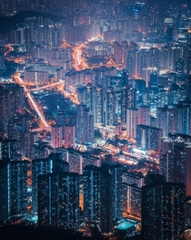 Layers of density in Kowloon Hong Kong