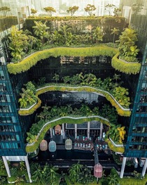 Layers of green  Parkroyal Hotel in Singapore