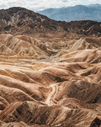 Layers of texture at Zabriskie Point Death Valley CA  IG kylefredrickson