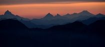 Layers of the Cascade Mountains from Aasgard Pass  photo by Ari Bixhorn