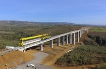Laying T-beam on Railway Bridge in Narok Kenya