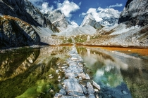 Le lac des vaches in the French Alps  by Mr Friks Colors