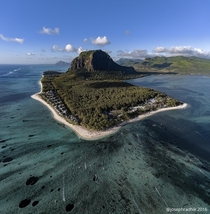 Le Morne peninsula Mauritius To the bottom right of the pic is an underground waterfall