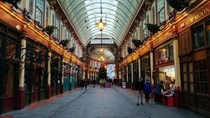Leadenhall Market in London Iron made structure and designed by Horace Jones