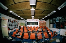 Lecture theatre in abandoned arts college Brisbane QLD