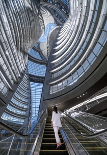 Leeza SOHO tower in Beijing Designed by the famous Iraqi woman architect Zaha Hadid